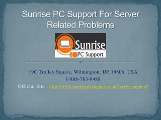 Sunrise PC Support For Server Related Problems