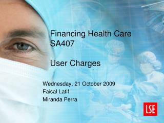 Financing Health Care SA407 User Charges