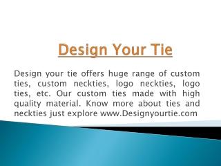 Custom School Ties and Neckties - Design Your Tie