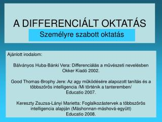 A DIFFERENCI LT OKTAT S