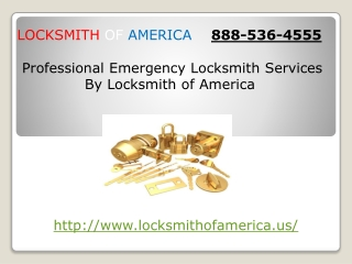 Emergency unlock locksmith service