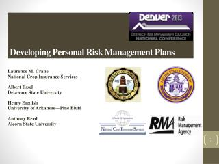 Developing Personal  Risk  Management  Plans
