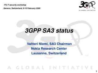 3GPP SA3 status
