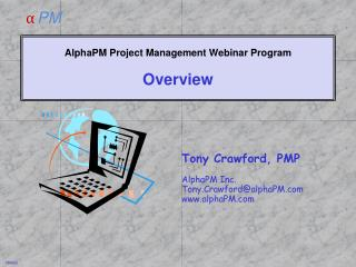 AlphaPM Project Management Webinar Program Overview