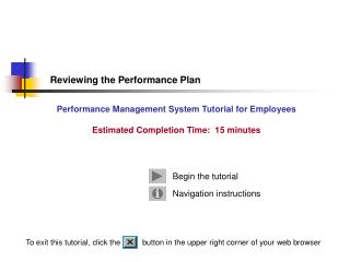 Reviewing the Performance Plan