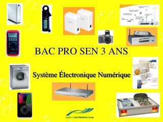 BAC PRO SEN 3 ANS
