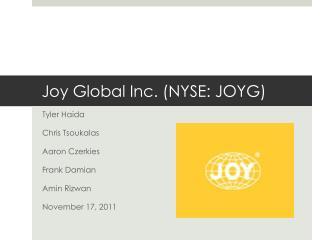 Joy Global Inc. (NYSE: JOYG)