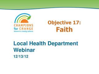 Objective 17: Faith