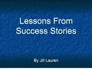 lessons from success stories