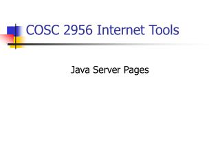 COSC 2956 Internet Tools