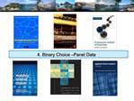 4. Binary Choice Panel Data
