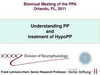 Understanding PP and treatment of HypoPP