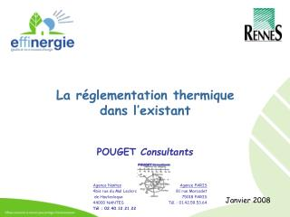 La réglementation thermique dans l'existant