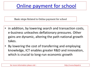 Online school fee payment module of all school