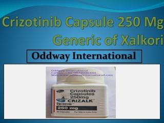 Crizotinib 250 Mg capsule