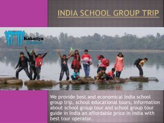 India school group trip with best travel agent