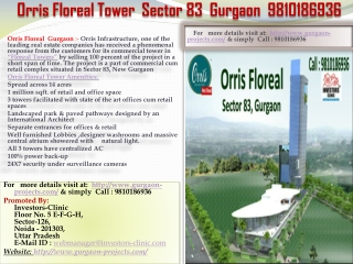 orris floreal  commercial projects gurgaon, 9810186936, orri