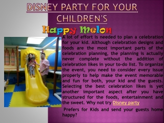 Disney party for your children's