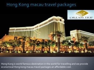Hong Kong macau travel packages