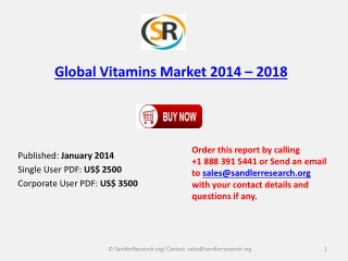 Global Vitamins Market Outlook to 2018