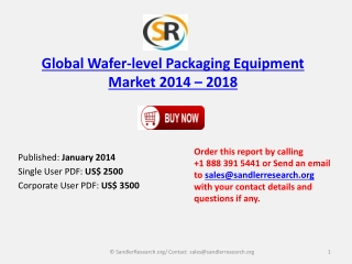 World Wafer-level Packaging Equipment Market 2014 to 2018