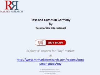 Toys and Games Industry in Germany Forecast to 2018