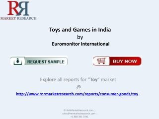 Indian Toys and Games Industry