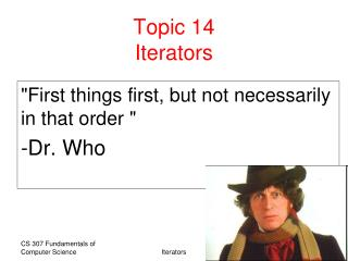 Topic 14 Iterators