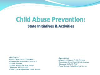 Child Abuse Prevention: State Initiatives & Activities