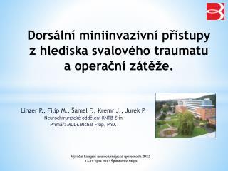 Dorsální miniinvazivní přístupy zhlediska svalového traumatu a operační zátěže.