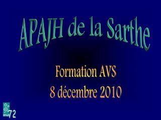 Formation AVS 8 décembre 2010