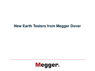 New Earth Testers from Megger Dover