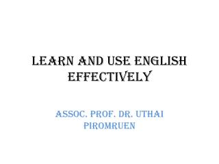 Learn and Use English Effectively