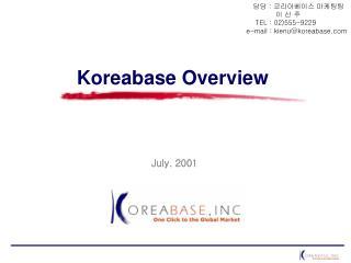 Koreabase Overview