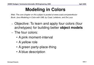 Modeling in Colors