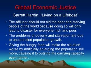 Global Economic Justice