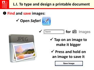 L.I. To type and design a printable document