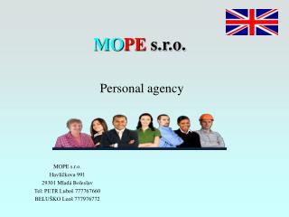 MO PE  s.r.o. Personal agency
