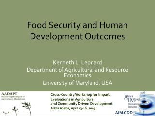Food Security and Human Development Outcomes