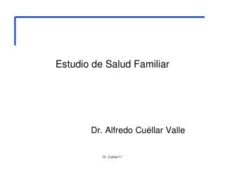 Estudio de Salud Familiar