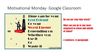 Motivational Monday- Google Classroom