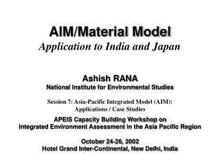 AIM/Material Model Application to India and Japan