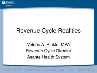 Revenue Cycle Realities