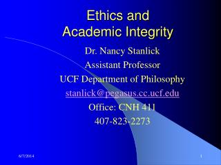 Ethics and Academic Integrity