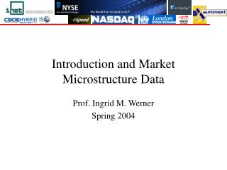 Introduction and Market Microstructure Data