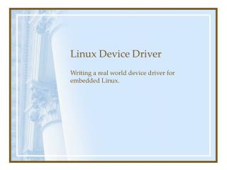 Linux Device Driver
