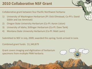2010 Collaborative NSF Grant