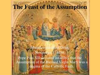 The Feast of the Assumption