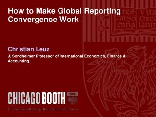 How to Make Global Reporting Convergence Work