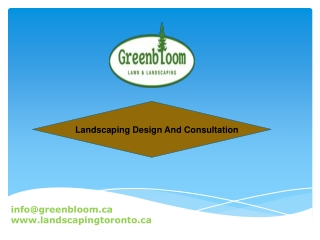 Landscaping Design And Consultation